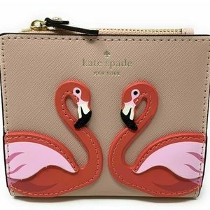 🎀 Kate Spade ♠️ By The Pool Flamingo  Wallet